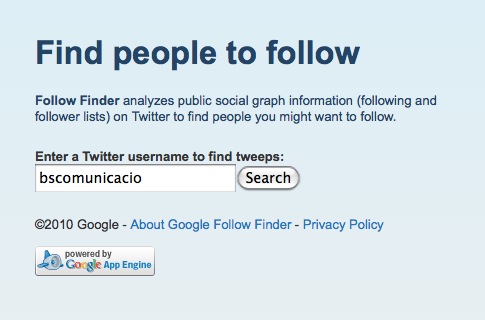 Follow Finder by Google